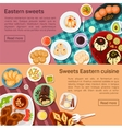 flat of eastern sweets dishes vector image