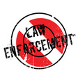 law enforcement rubber stamp vector image
