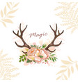 Magic horn deer vector image