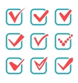 Tick check marks icons vector image