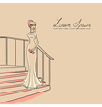 woman on staircase vector image