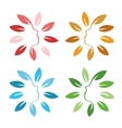 Isolated abstract colorful floral logo set Round vector image