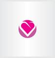 heart logo sign red symbol vector image