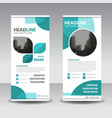 eco blue abstract circle business roll up vector image