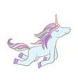 with a mystic unicorn animal vector image