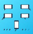 Gadget smartphone empty speech bubbles vector image vector image