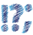 sketched question mark vector image