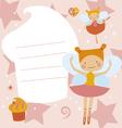 Card with ballerinas fairies vector image