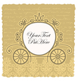 carriage wedding invitation design vector image