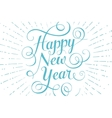 Blue lettering Happy New Year for greeting card on vector image
