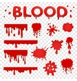 Blood splat collection vector image