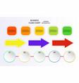 business info arrow graphic design flow charts vector image