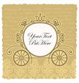 carriage wedding invitation design vector image