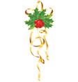 christmas gold ribbon vector image