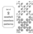 Geometric seamless pattern of seashells vector image