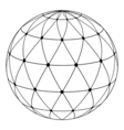 globe radial pattern triangles vector image