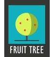 Sign of fruit tree on a blue background vector image