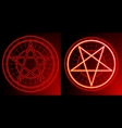 two pentagrams vector image