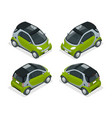 isometric hybrid car city car isolated on white vector image vector image