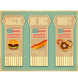 Retro Fast Food Labels vector image vector image