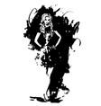 fashion woman watercolor vector image