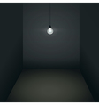 Gloomy room vector image vector image