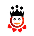 Happy smiley with crown vector image