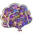 hand drawing turkey vector image