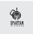 skull spartan warrior fitness design template vector image