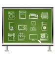 chalk home electronics vector image vector image