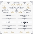 Baroque Set of vintage decor elements calligraphic vector image