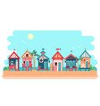 beach bungalow hotel summer vector image