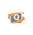 career coaching initial q vector image