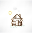 cottage grunge icon vector image