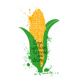 Of Isolated Corn Silhouette vector image