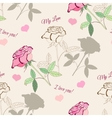 Seamless pattern with pink rose2-1 vector image