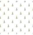 Toy bunny pattern cartoon style vector image
