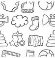 doodle of baby set collection stock vector image