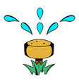 irrigation hose icon cartoon vector image
