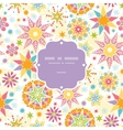 Colorful Christmas Stars Frame Seamless Pattern vector image