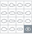 Set a cloud2 vector image vector image