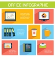 Office infographics flat business template vector image vector image