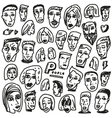 Faces - doodles collection vector image