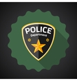 Police Badge Flat icon background vector image