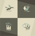 Musical logo design concepts vector image vector image