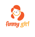 Funny girl icon vector image