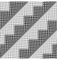 Design seamless monochrome diagonal zigzag pattern vector image