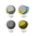 abstract logo modern globes icon set with color vector image