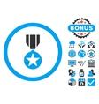 Army Award Flat Icon with Bonus vector image