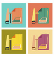 assembly flat icons work lesson vector image